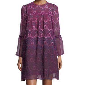 Nanette Lepore Moody Romance Chiffon Shift Dress